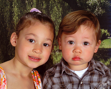 Nicole, age 5, and Andrew, age 16 months